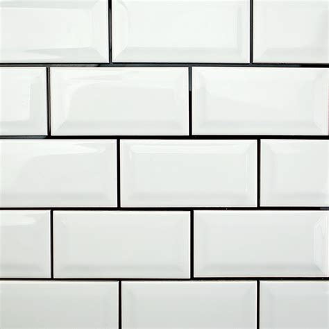 White Ceramic Tile by Sb Tlevydybev3x6wt Jpg