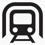 Metro Station Train Icon Tunnel Trains Subway
