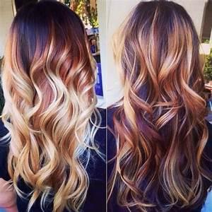 Balayage Cheveux Frisés : balayage blond sur cheveux bruns avant apr s ~ Farleysfitness.com Idées de Décoration