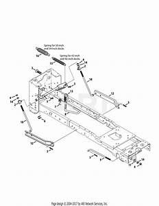 Troy Bilt 13aaa1kt066 Tb2246  2015  Parts Diagram For Deck