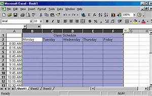 How Can I Make A Schedule Using Excel Creating A Class Schedule Using Excel