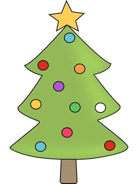 christmas tree with colorful ornaments clip art christmas tree with colorful ornaments image