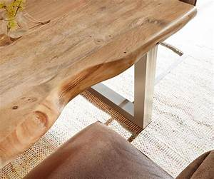 Baumtisch Live Edge : baumtisch live edge 140x90 akazie natur platte 5cm gestell breit m bel tische esstische ~ Indierocktalk.com Haus und Dekorationen