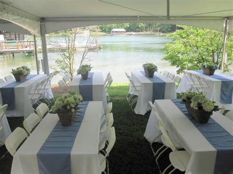 wedding reception long rectangle tables table under