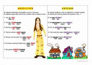 Adjectives Vs Adverbs Worksheet