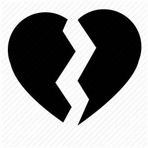 Broken, divorce, heart, love, over icon | Icon search engine