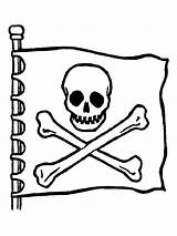 Coloring Skull Crossbones Pirate Flag Pages Sheet Printable Getcoloringpages Jolly Roger sketch template