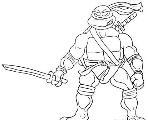 Leonardo Ninja Will Readily Kill Coloring Pages Ninja