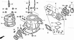 Honda Motorcycle 1999 Oem Parts Diagram For Cylinder Head