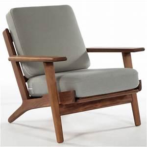 Chaise En Bois Massif : hans wegner fauteuil salon chaise design moderne bois cadre tissu coussin chaise en bois ~ Teatrodelosmanantiales.com Idées de Décoration