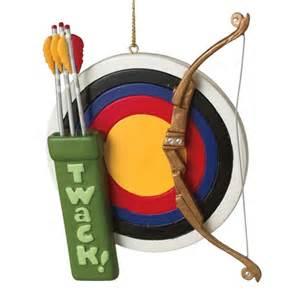 archery target bow arrow christmas ornament