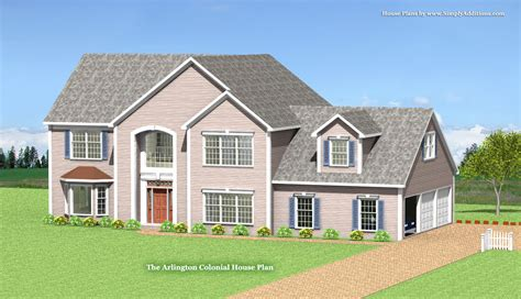 Colonial House Plans by Arlington Modular Colonial Home Plan