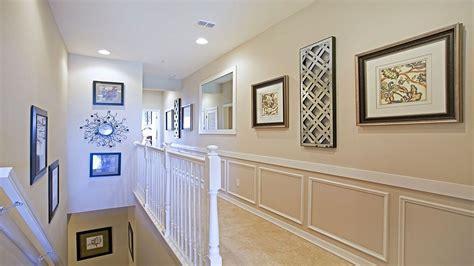 Traditional Hallway With Shadow Box Trim & Wainscoting