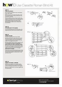 Cassette Roman Blind Kit Fitting Instructions