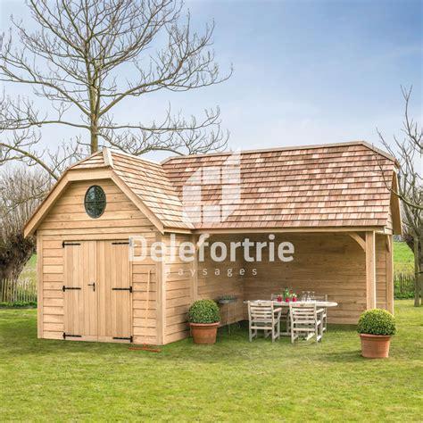 abris chalet en bois chalet de jardin en bois delefortrie paysages