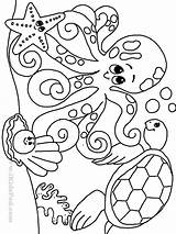 Coloring Underwater Pages Popular sketch template