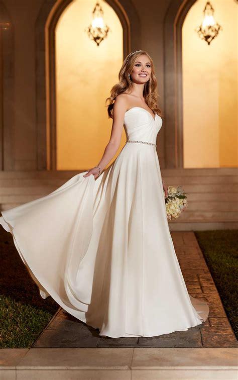 sheath wedding dress  belt stella york wedding dresses