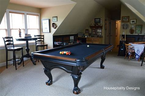 paint and distress our pool table basement
