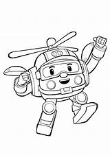 Coloring Robocar Poli Pages Helly Happy sketch template