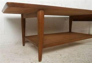 long mid century walnut coffee table by lane for sale at With long coffee tables for sale