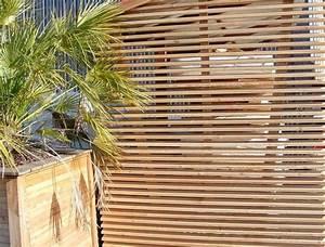 Bardage Claire Voie Horizontal : pose de brise vue claustras vente de bois exotiques en gironde ~ Carolinahurricanesstore.com Idées de Décoration