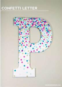 Diy, Confetti, Letter, For, Home, Decor