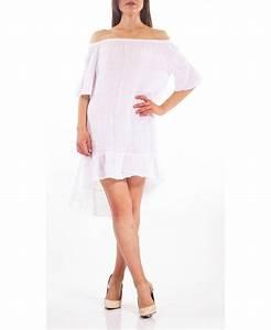 robe en lin s9305 blanc grossiste pret a portercom With robe en lin blanc