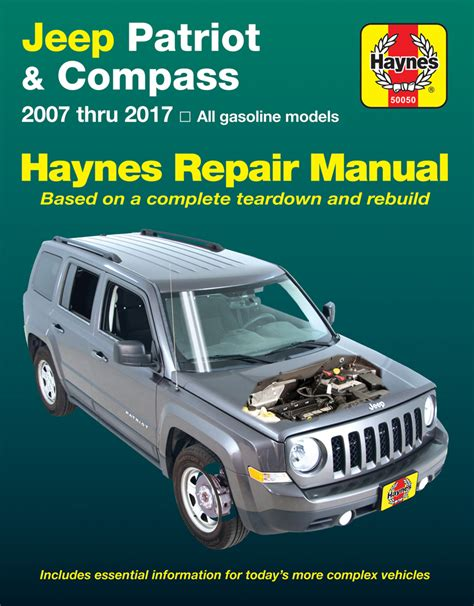 car repair manual download 2007 jeep compass seat position control jeep patriot compass haynes repair manual 2007 2017 hay50050