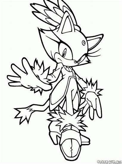 Coloring Eggman Doctor Blaze Cat Sonic