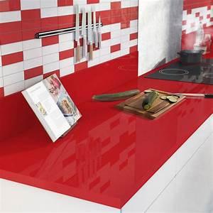 plan de travail stratifie rouge rouge 3 brillant l300 x p With plan de travail cuisine rouge