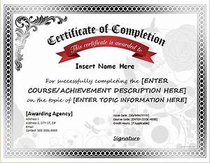 free printable participation certificates certificate of completion for ms word download at http