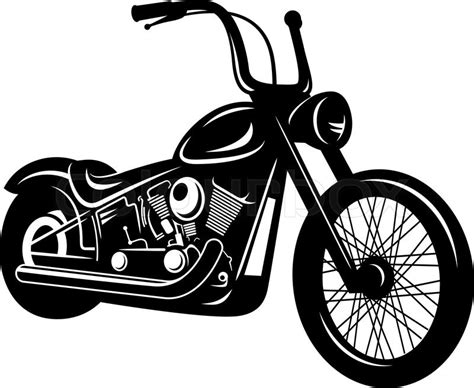 Vector Illustration Of A Motorcycle Isolated On White