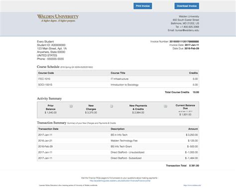Q. How Can I View My Invoice History In The Student
