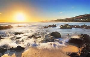 Type X Lights Wallpaper Sunrise Morning Beach 4k Nature 9189