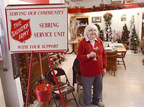 salvation army help with light bill copeland oaks residents ringing the bell for salvation