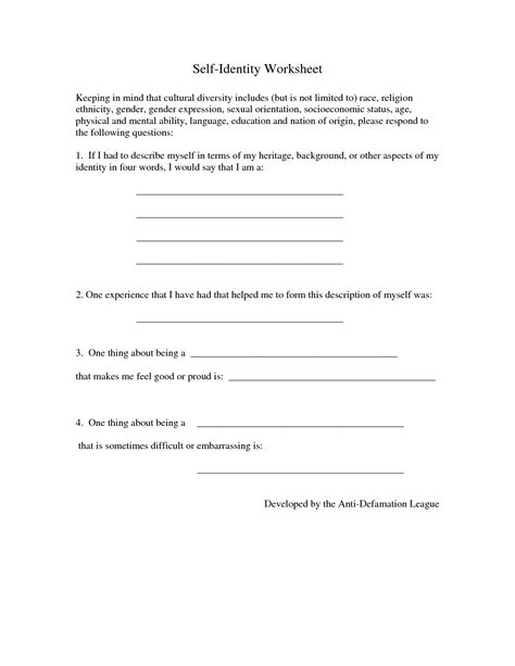 self esteem worksheets for adults the best and most