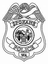 Badge Police Coloring Spokane sketch template