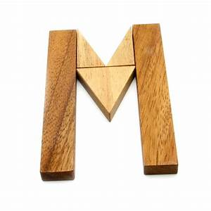 find the m puzzle wooden 3d logic wood brain teaser With wooden letter puzzle