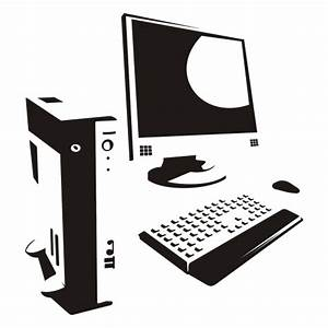 Vector for free use: Computer silhouette