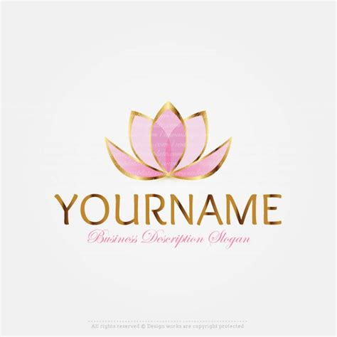 create a logo template lotus flower logo
