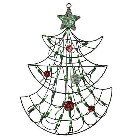 """My main aim to teach u guys that how u can make decoration pieces without. 19"""" Lighted Christmas Tree with Silver Tinsel Star Window or Wall Silhouette Decoration ..."""