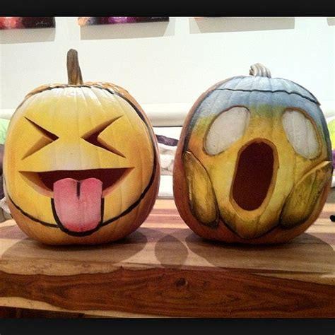 Emoji Pumpkin Carving by 25 Incredibly Creative Pumpkin Ideas Emoji Creative