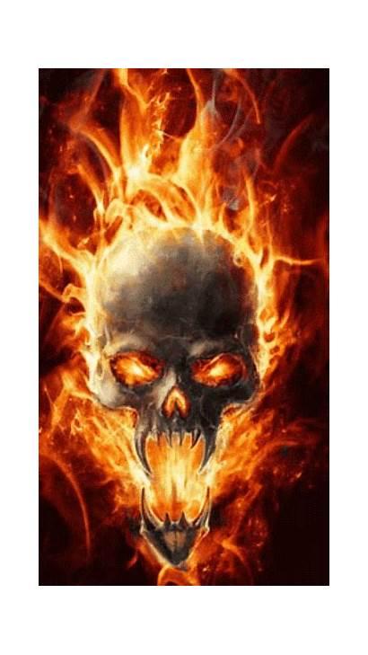 Skull Fire Tattoos Cool Gifs Tattoo Animated