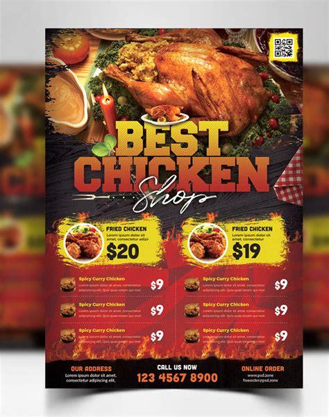 creative food restaurant flyer template