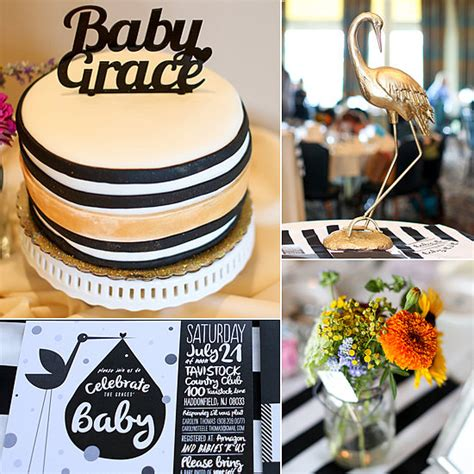 black and gold baby shower sophisticated baby shower in black white and gold