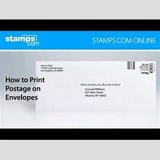 How To Print Postage On Envelopes With Stampscom Online Youtube