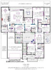 house plan with courtyard courtyard home plan omahdesigns net