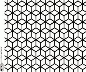 Colering Page Kleurplaat Patroon Kubussen In Isometrische Weergave