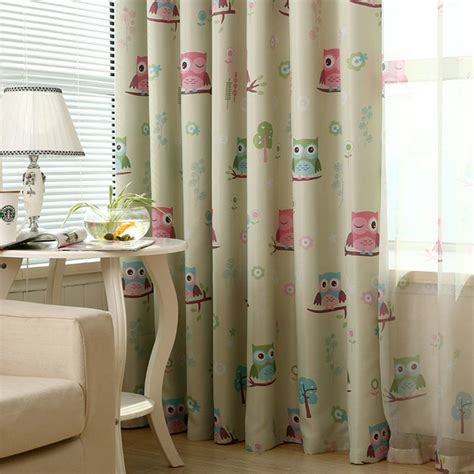 2016 owl printed curtain for baby room