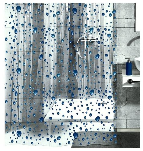 Beach Glass Bathroom Accessories by Pvc Free Shower Curtain Bubble Design Contemporary